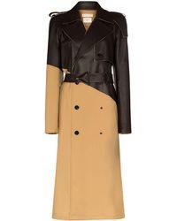 Bottega Veneta Пальто С Поясом - Коричневый