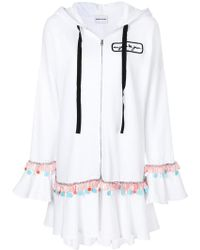 Au Jour Le Jour - Embroidered Ruffle Trim Hoody - Lyst