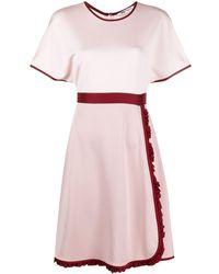 Ports 1961 Vestido con ribete en contraste - Rosa