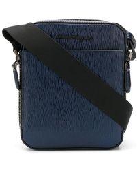 Ferragamo - Textured Leather Messenger Bag - Lyst