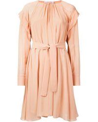 Chloé Платье С Длинными Рукавами И Поясом - Многоцветный