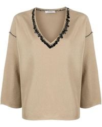 Dorothee Schumacher Sequin-embellished Sweater - Metallic