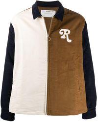Reception Zip-through Colour-block Shirt Jacket - Multicolour