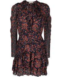Ulla Johnson Cecily Cosmos-print Mini Dress - Red