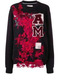 Antonio Marras - Floral Embroidered Sweatshirt - Lyst