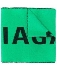 Balenciaga Длинный Шарф С Логотипом - Зеленый