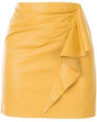 Michelle Mason ラッフル ミニスカート - イエロー