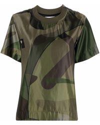Sacai プリント Tシャツ - グリーン