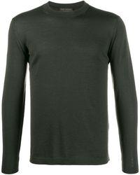 Dell'Oglio Colour Block Sweater - Green