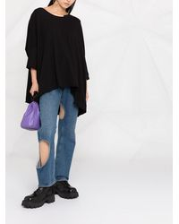 Rundholz Oversized Dolman Sleeve Sweater - Black