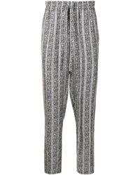 Dolce & Gabbana フローラル パジャマパンツ - ブラック