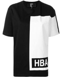 Hood By Air - Contrast Logo T-shirt - Lyst
