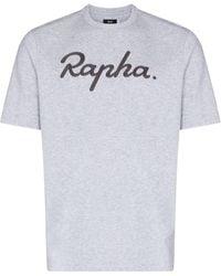 Rapha T-shirt à logo brodé - Gris