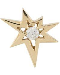 LE STER Puce d'oreille Bang en or jaune 18ct ornée de diamants - Métallisé