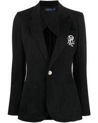 Polo Ralph Lauren - Blazer con logo bordado - Lyst