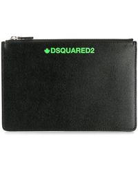 DSquared² Кошелек Для Монет С Принтом Логотипа - Черный