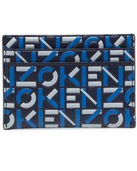 KENZO モノグラム カードケース - ブルー