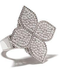 Roberto Coin 18kt White Gold Princess Flower Diamond Ring - Multicolour