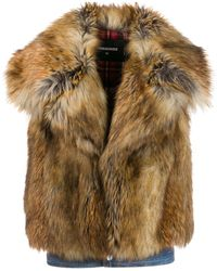 DSquared² - Faux-fur Vest - Lyst