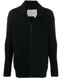 A_COLD_WALL* Knitted Zipped Cardigan - Black