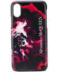 Alexander McQueen Чехол Для Iphone X С Принтом - Черный
