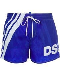 DSquared² - Dsq Logo Printed Swim Shorts - Lyst