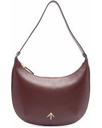MANU Atelier Mini sac porté épaule Hobo en cuir - Rouge