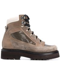 Brunello Cucinelli Массивные Ботинки Хайкеры - Коричневый