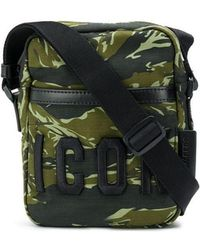 DSquared² - Icon Camouflage Print Crossbody Bag - Lyst