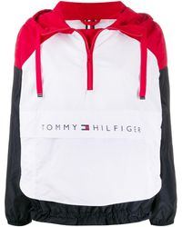 Tommy Hilfiger カラーブロック パーカー - レッド