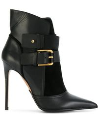 Balmain - Anais Leather Ankle Boots - Lyst