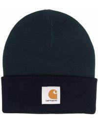 Carhartt WIP Triple Logo Patch Beanie - Green