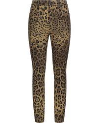 Dolce & Gabbana レオパード スキニージーンズ - ブラウン