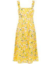 Andrea Marques - Printed Midi Dress - Lyst