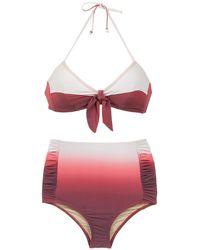 Amir Slama Gradient Bikini Set - Rood