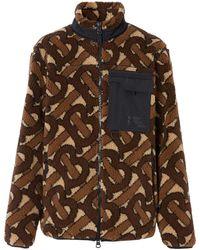Burberry Monogram Jacquard Fleece Jacket - Brown