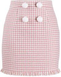 Loulou ハウンドトゥース ミニスカート - ピンク