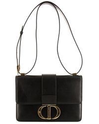 Dior Pre-owned 30 Montaigne Shoulder Bag - Black