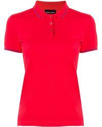 Emporio Armani Piqué Polo Shirt - Red