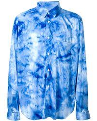 Comme des Garçons Tie-dye Shirt - Blue