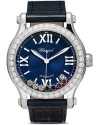 Chopard Reloj Happy Sport London de 35mm de edición limitada - Azul