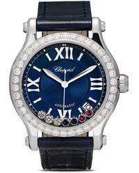 Chopard Reloj Happy Sport London de 35mm de edición limitada - Azul