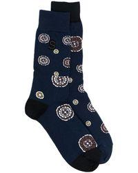 Sacai インターシャ 靴下 - ブルー