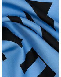 Mulberry Платок С Принтом И Логотипом - Синий