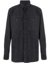 Tom Ford ボタンダウンシャツ - ブラック
