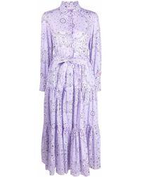 Mc2 Saint Barth Bandana-print Cotton Dress - Purple