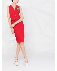 Boutique Moschino - Платье-футляр С Нашивкой-логотипом - Lyst
