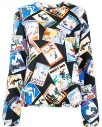 Love Moschino - Postcard Printed Sweater - Lyst