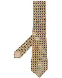 Hermès Écharpe à motif géométrique - Jaune