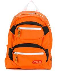 Heron Preston Pocketed Backpack - Orange